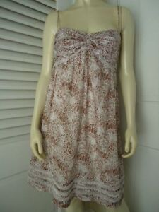Ann-Taylor-Loft-Womans-Dress-2-Cotton-Spaghetti-Strap-Babydoll-Lace-Lined