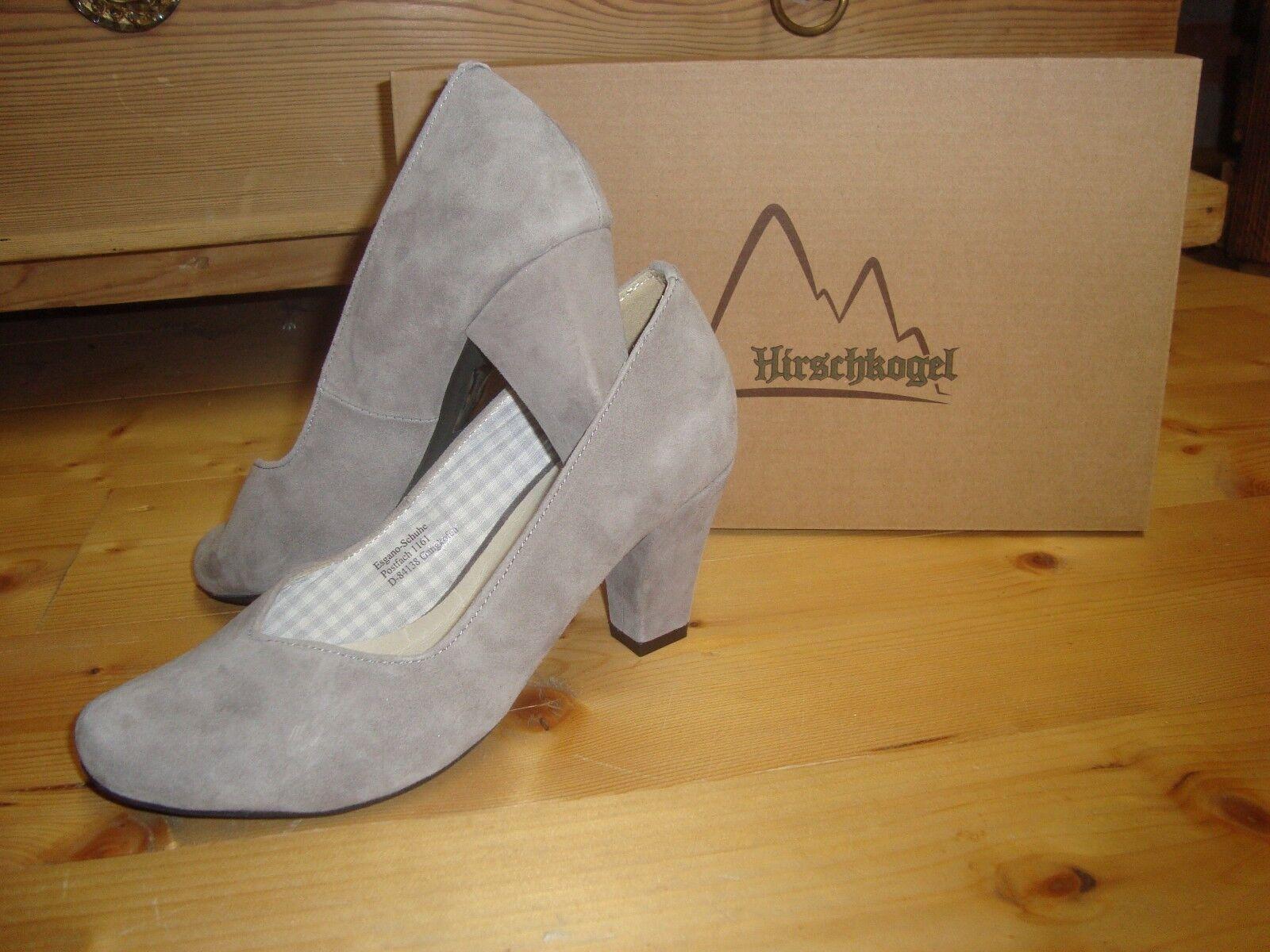 Hirschkogel Trachten Pumps Schuhe grau 38 Damen Gr. 36 37 38 grau 39 40 41 446711