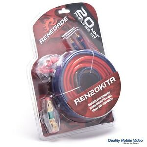 Renegade by Rockford Fosgate REN20KITA 4 Gauge Amp Kit 1000W Amplifier Install