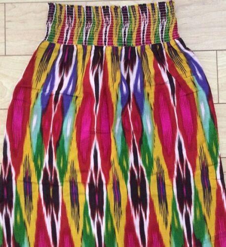 L Red Motif NW ANTHROPOLOGIE Tag Vanessa Virginia Apolline Maxi Skirt Size S
