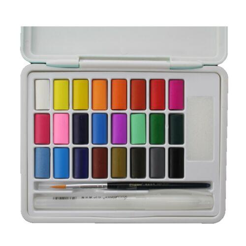 Macaron 24 Colour Professional Solid Watercolour Cake Paint Set