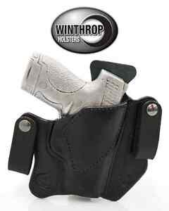 S/&W M/&P Shield No Laser 9mm or 40cal OWB Shield Dual Snap Holster R//H Black