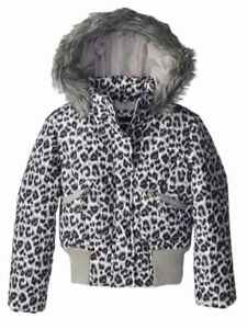 8fa89b8ae5fc Image is loading Rothschild-Girls-Black-Snow-Leopard-Fur-Coat-Animal-