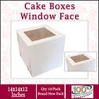 Cake Boxes Window Face 14x14x12 Inches High 10PK Wedding Cake Box Cake Boxes
