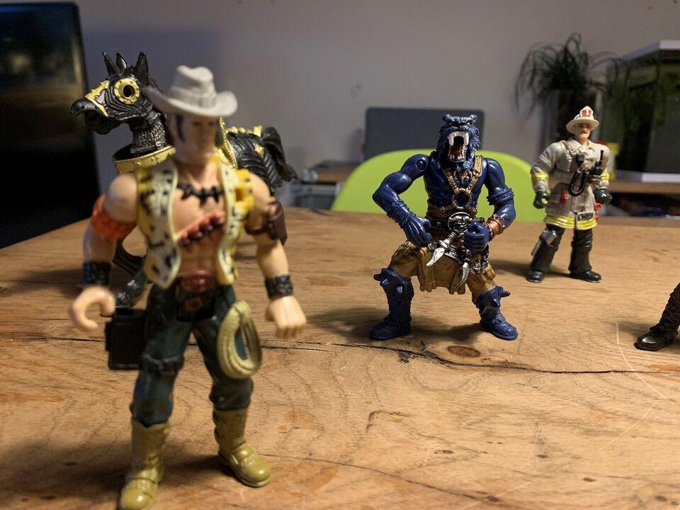 Figurer, Cowboy brandmand viking monster hest, Chap mei