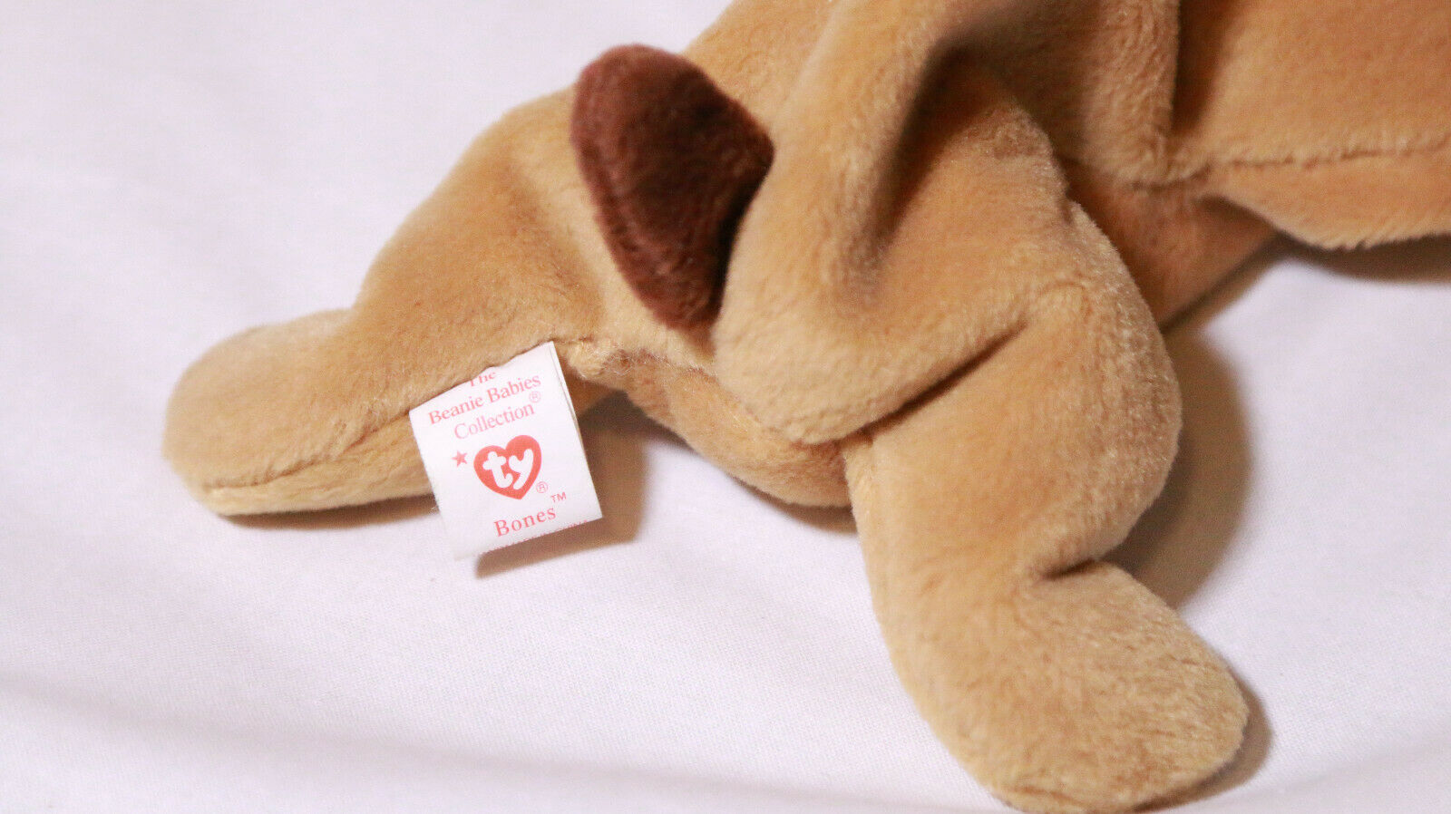 Bones The Dog Rare Errors -Beanie Baby