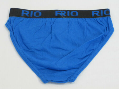 Rio Boys Soft Breathable Soft Cotton Briefs Underwear sizes 4 6 8 10 12 Blue