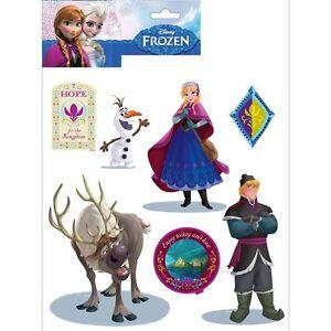 Disney-Frozen-Autocollant-Mural-14-Pieces-Neuf-amp-Officiel-Piece-Decor