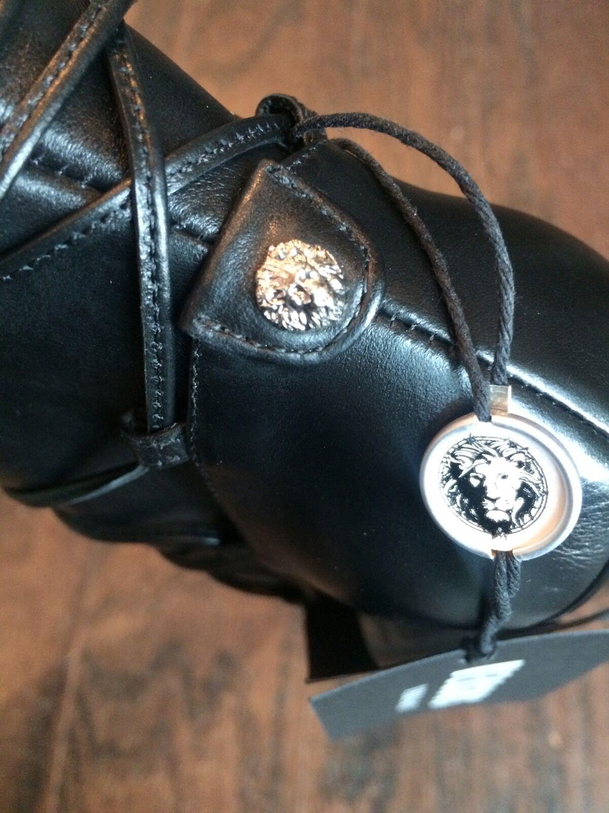 Versus Versace Versace Versace bombas al tobillo con cordones de cuero f95534