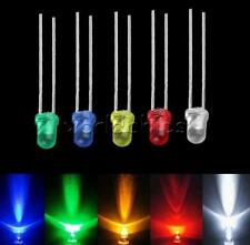 1005001000pcs 3mm Led Light Bulb Emitting Diode White Green Red Blue Yellow