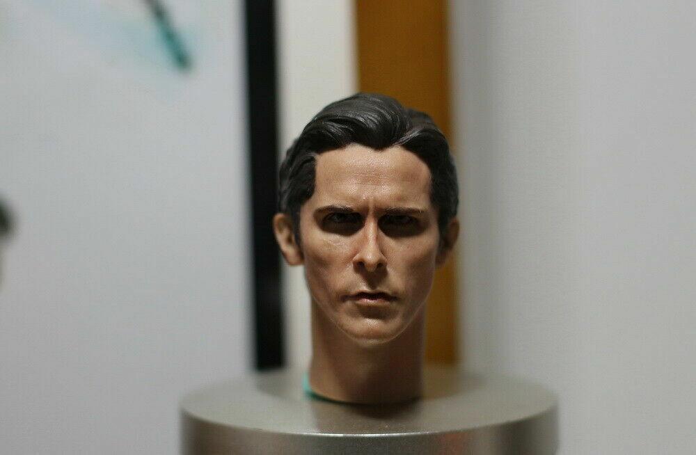 1 6 Scale Male Christian Bale Batman Man Head Sculpt For 12'' Action Figure Gift