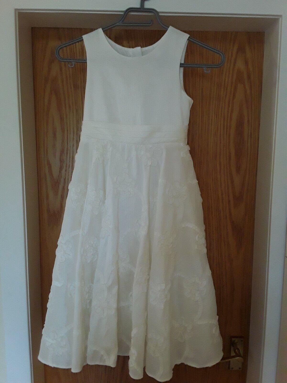 Next Flower Girl/Bridesmaid dress Ivory age 8