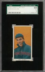 Rare 1909-11 T206 Dick Egan Sweet Caporal 350 Cincinnati SGC 5