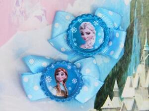 Disney-Frozen-Princess-Anna-Elsa-Inspired-Handmade-Hair-Clips-Dress-Bow-Costume