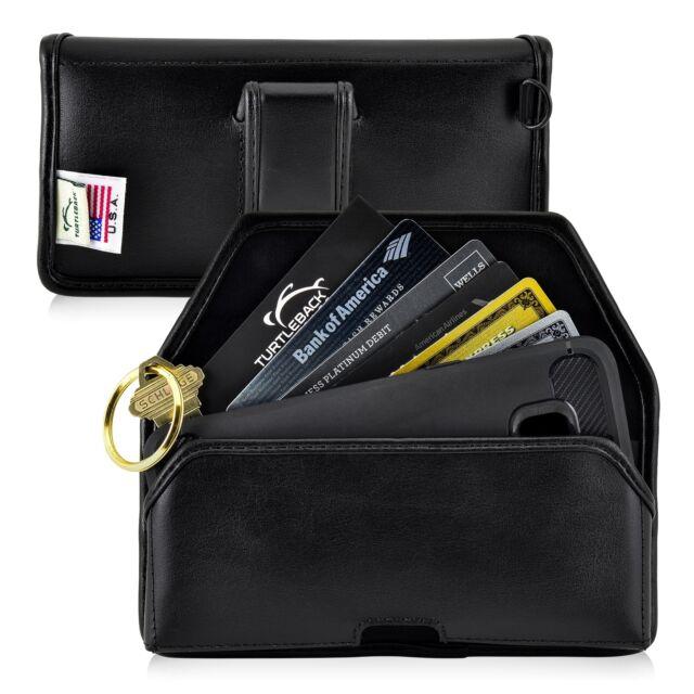 uk availability bed3c af646 Medium Smartphone Holster Black Belt Clip Case Pouch Leather Turtleback