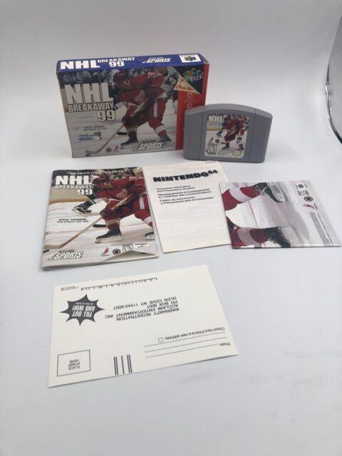 NHL Breakaway 99 (Nintendo 64, 1998) TESTED COMPLETE N64 CIB Hockey