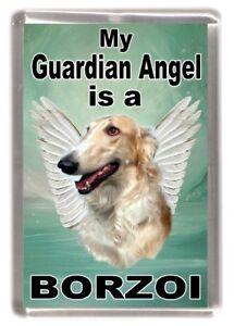Borzoi-Dog-Fridge-Magnet-034-My-Guardian-Angel-is-a-Borzoi-034-by-Starprint