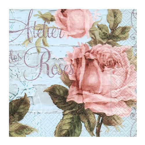 Servietten Atelier des Roses 20 Stk Papierservietten Lunchservietten Hochzeit