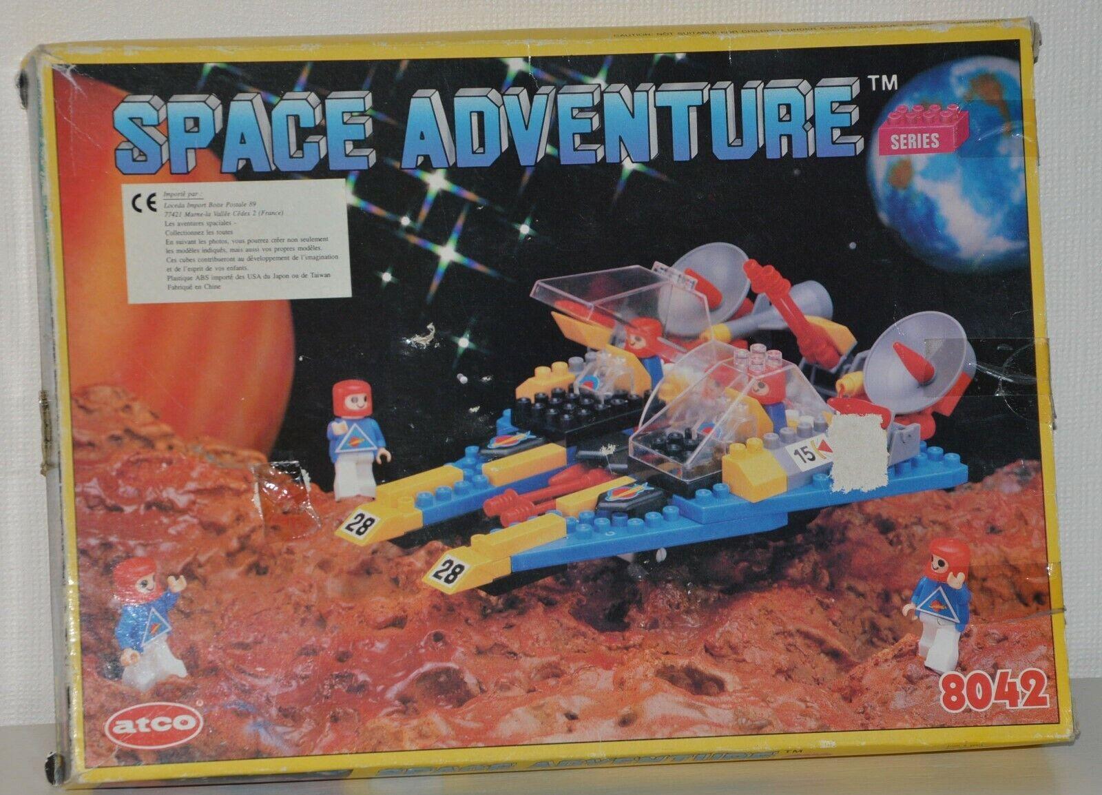 Ancien Jouet jeu briques de construction ATCO SPACE ADVENTURE vintage N° 8042