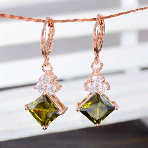 Nouveaux bijoux 18k Plaqué or Nice sweet Zircone Cubique Boucles d/'oreilles Créoles