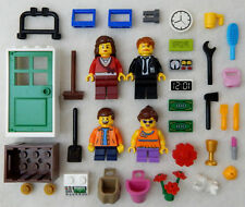 NEW LEGO FAMILY MINIFIG LOT 4 figures Mom Dad Girl Boy minifigures town people