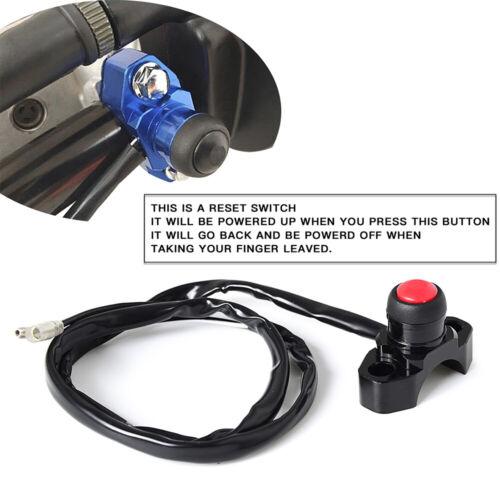 Billet CNC Engine Kill Stop Start Switch Button Black Fits Off-road ATV Quard