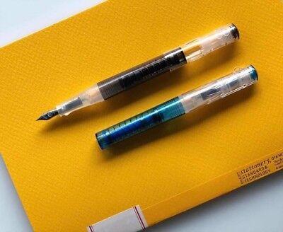 Blue // Black 〝SEALED〞TWSBI GO Spring Fill  Fountain Pen 5 nibs can choose
