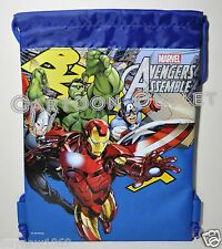 MARVEL AVENGERS BACKPACK DRAWSTRING STRING BACKPACK SLING TOTE BAG HULK NWT BLUE