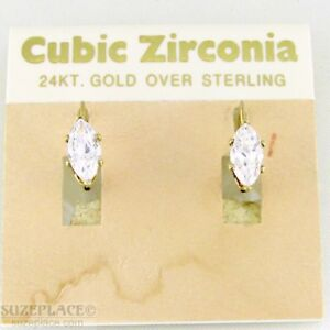 24-KT-GOLD-OVER-STERLING-CZ-EARRINGS-NWT-30