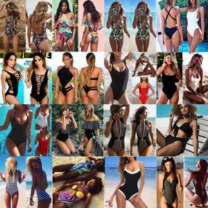 5d9e4ea8baef2 Sexy Women Monokini Bikini Set Push-up Padded Bra Padded Swimsuit ...