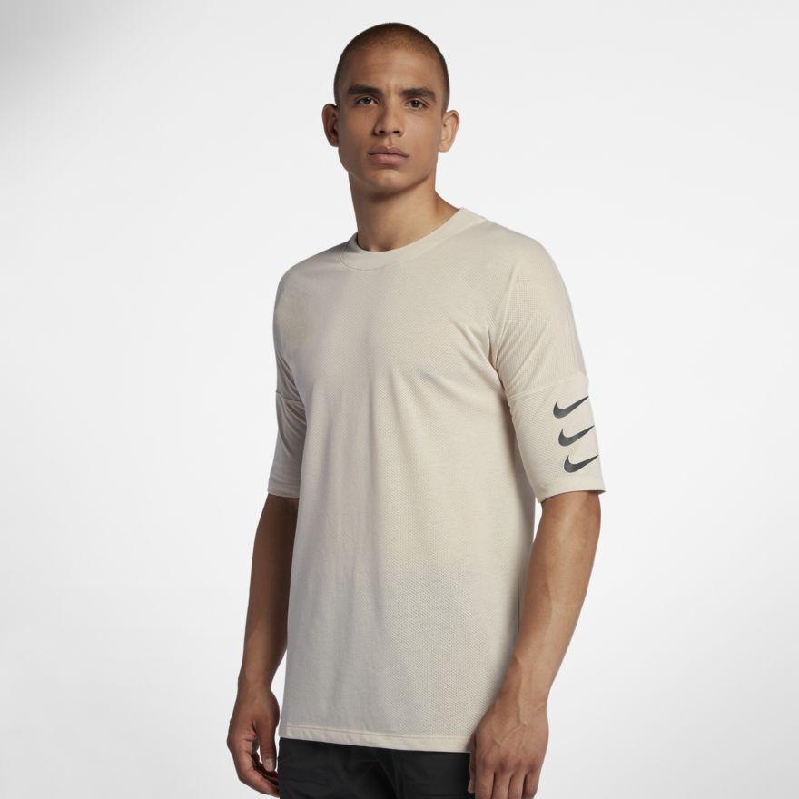 Nike Rise Rise Rise 365 Uomo Mezza Manica Corsa Superiore M Camicia Avorio Sabbia Gym 2ddbf4