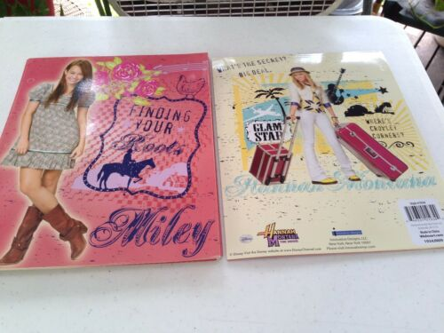 HANNAH MONTANA MILEY FOLDERS OR SPIRELS MANY TO CHOSE FROM