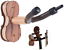 Ammoon Hardwood Violin and Bow Wall-Mounted Holder for Home /& Studio Colour