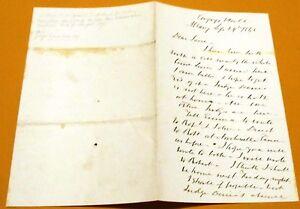 JOSIAH-SUTHERLAND-New-York-Congressman-Judge-Autograph-Signed-Letter