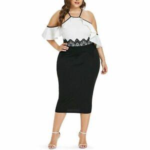 Vestidos De Fiesta Cortos Para Gorditas Mujer Plus Size Elegantes Tallas Grandes Ebay
