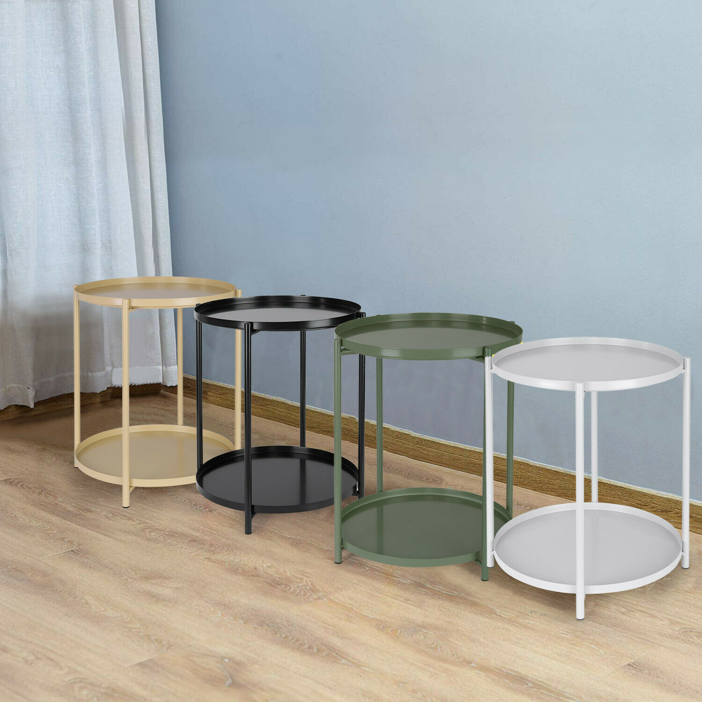 - Upton Home Kayden Indoor/ Outdoor Green Metal Accent Table For Sale Online  EBay