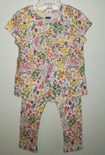 NEW Old Navy Girls 3T Short Sleeve Tee /& Leggings Outfit FLORAL Spring Summer
