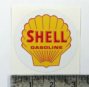 "Vintage Shell Gasoline sticker decal 3"" dia."