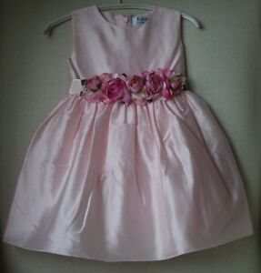4a11d0f447 Image is loading LESY-LUXURY-BABY-GIRLS-PINK-FLOWERS-DRESS-2-