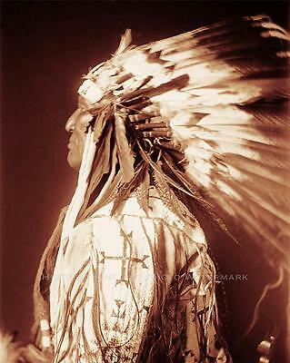 CHEYENNE INDIAN CHIEF MOWER VINTAGE PHOTO NATIVE AMERICAN OLD WEST 1909 #21377