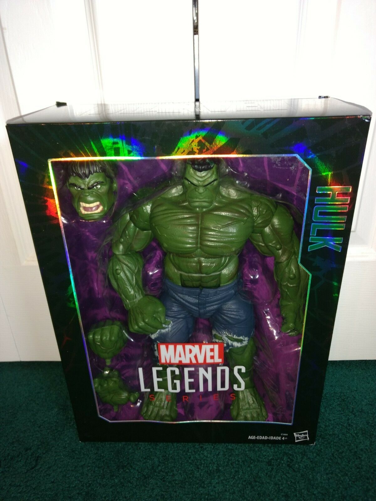 Hulk 14.5   Marvel Legends Series Avengers 2016 MISP  Alternate Head & Hes   comprare a buon mercato