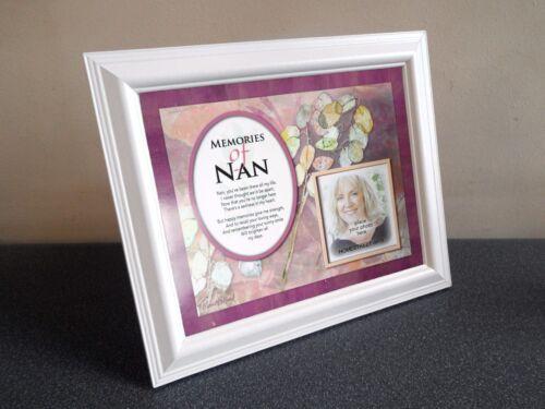 Memories Of Nan New Memorial Mount With Loving Memory Verse Choose A Frame