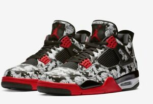 10885b3ea298 Nike Air Jordan 4 Retro Tattoo Singles Day sz 14 Black Fire Red Sold ...