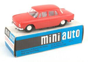 Vintage-KDN-Czechoslovakia-Mini-Auto-Plastic-Skoda-110-L-Red-BOXED