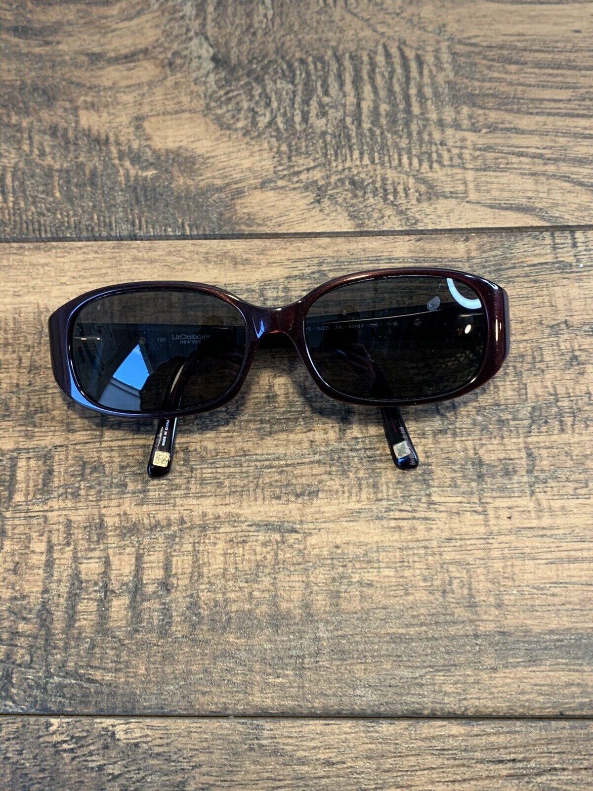 LIZ CLAIBORNE L542/S OJZB Sunglasses Frame 53-16-130 Maroon Polish G124