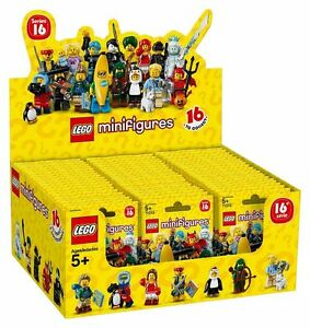 LEGO-SERIES-16-CASE-OF-60-MINIFIGURES-PACKS-PACK-SEALED-BROWN-BOX-71013