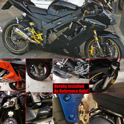 Black Fairing Bolts Kit Fastener Clips Screws For Yamaha YZF R6 1999-2001 2002