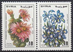 Siria-Syria-1997-mi-1997-98-ZDR-flores-Flowers-damasco-flora-plants-Iris