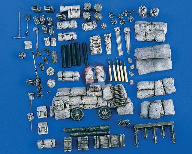 Verlinden 1 35 M10 - M36 GMC Stowage Set with Hedgerow Cutter (for Tamiya) 1821