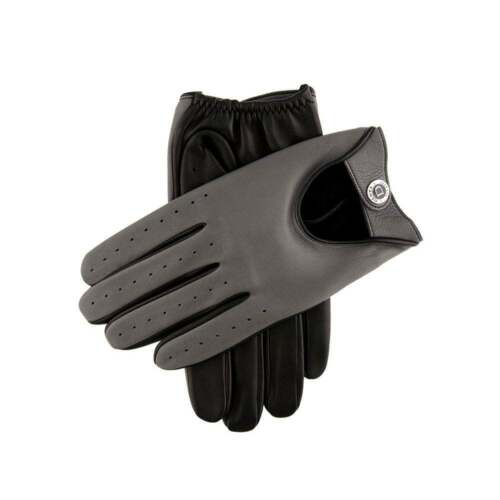 Woburn Men's Leather Driving Gloves Contrast Black/Grey Heritage Collection